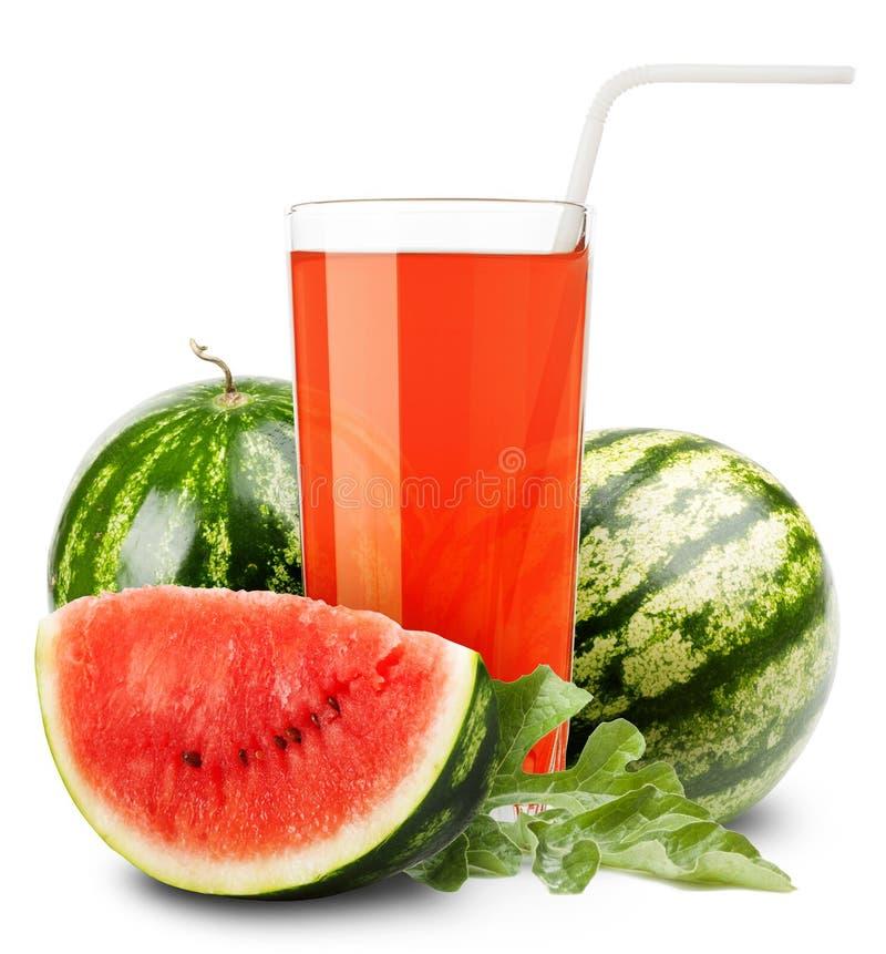 Het sap van de watermeloen royalty-vrije stock afbeeldingen