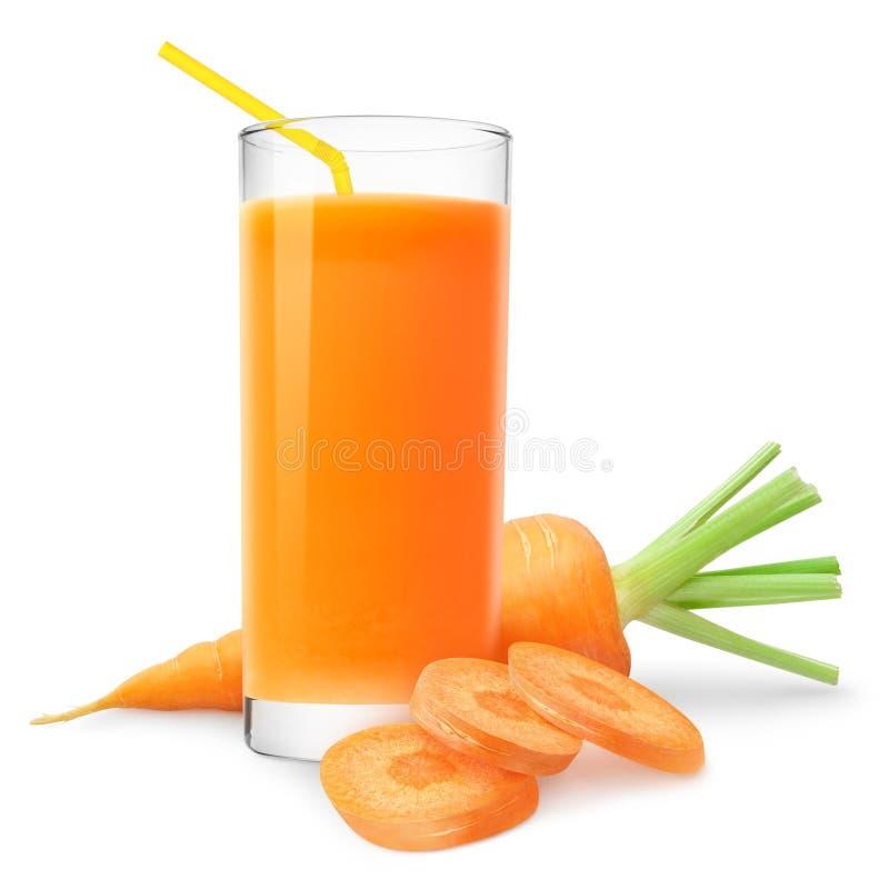 Het sap van de wortel stock fotografie