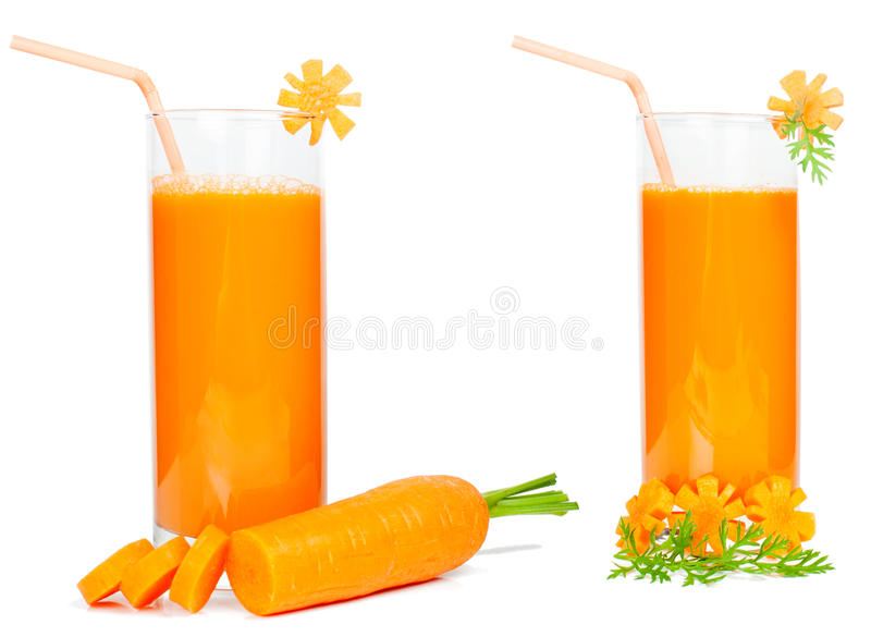 Het sap van de wortel stock afbeelding