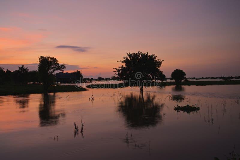 Het Sapmeer van Kambodja Tonle royalty-vrije stock fotografie