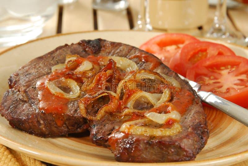Het sappige Diner van het Lapje vlees stock foto's