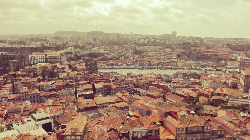 Het satellietbeeld en het landschap van Porto royalty-vrije stock fotografie