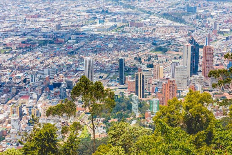 Het satellietbeeld van Bogota van de districten van San Diego, van het Park van Beieren, van Bello Horizonte en Santa Fe- royalty-vrije stock afbeeldingen