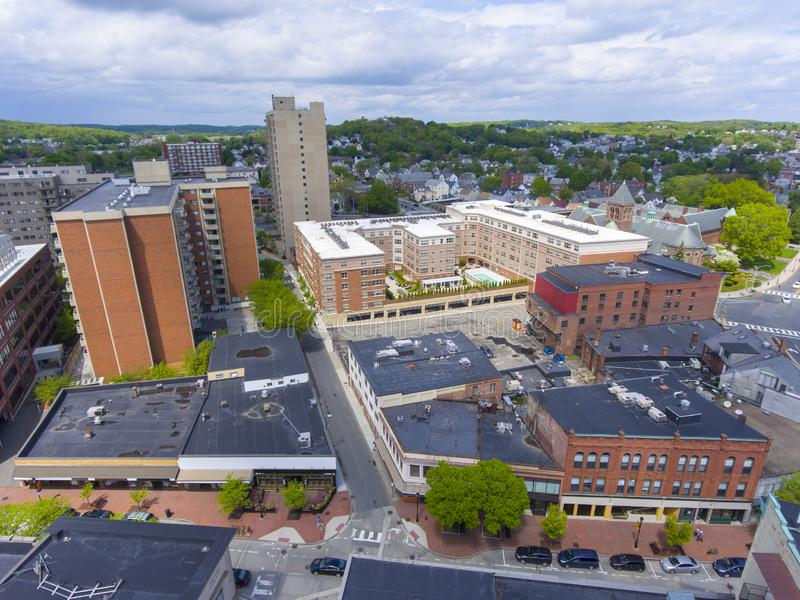 Het satellietbeeld van de Maldenstad, Massachusetts, de V.S. royalty-vrije stock foto's