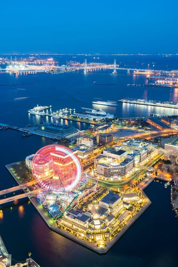 Het satellietbeeld van de Yokohamastad stock foto's