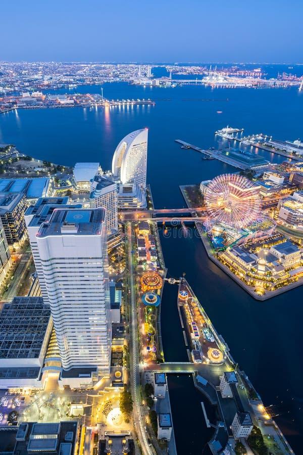 Het satellietbeeld van de Yokohamastad stock afbeelding