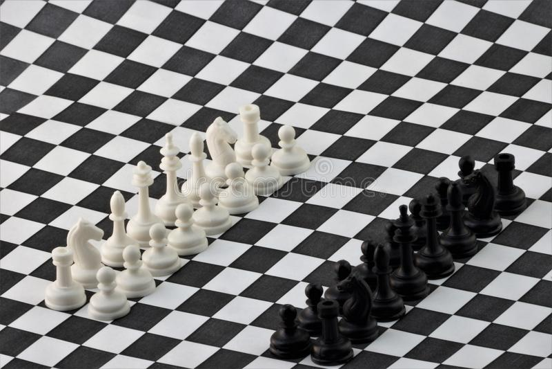 Het schaak is een oud logisch strategiespel royalty-vrije stock foto