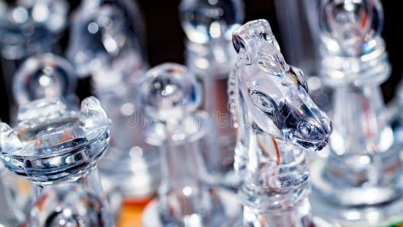 Het schaak van het glaskristal royalty-vrije stock afbeelding