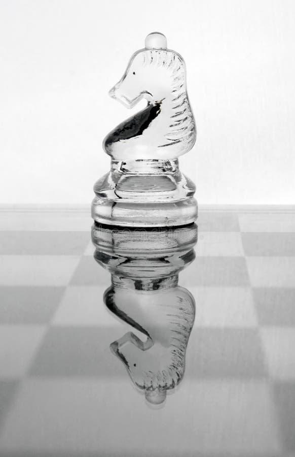 Het schaak van het glas royalty-vrije stock afbeeldingen