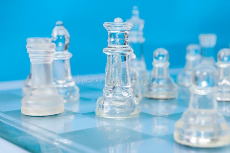 Download Het schaak van het glas stock afbeelding. Afbeelding bestaande uit ridder - 29500659