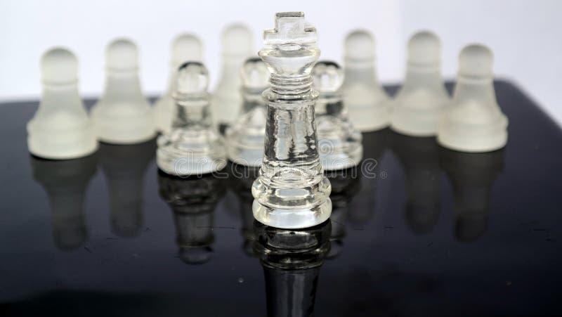 Het Schaak van het kristalglas royalty-vrije stock foto's