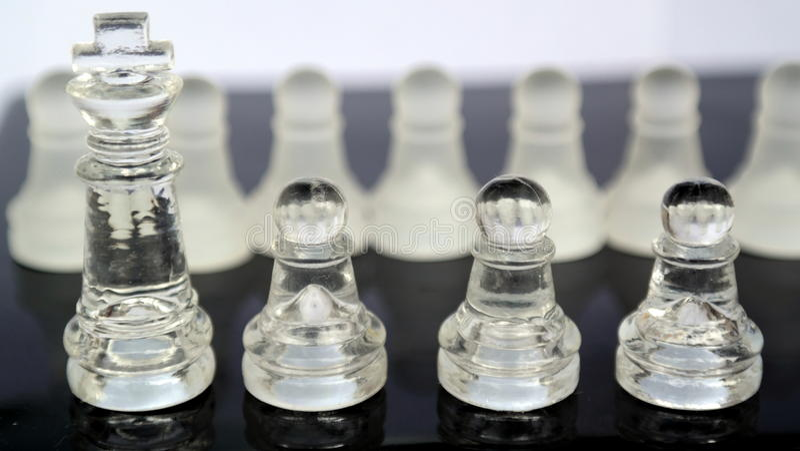 Het Schaak van het kristalglas stock fotografie