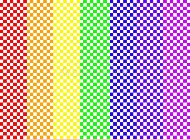 Het Schaakbord van de regenboog royalty-vrije stock afbeelding