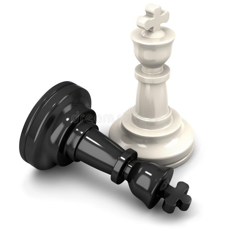 Het schaakpartner van de koning stock illustratie