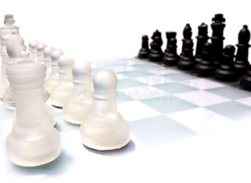 Het schaakreeks van het glas royalty-vrije stock foto