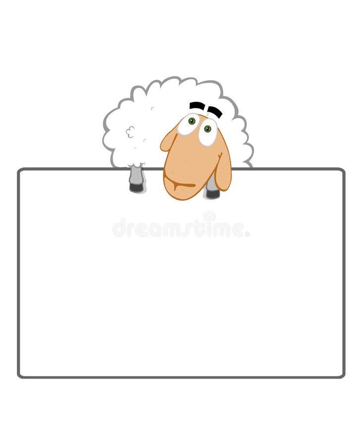 Het schaap helpt om uw zaken te bevorderen stock illustratie