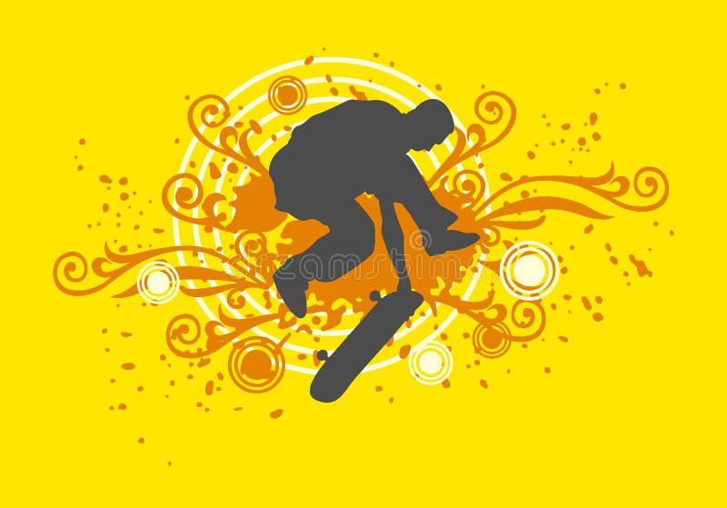Het schaatsen stock illustratie