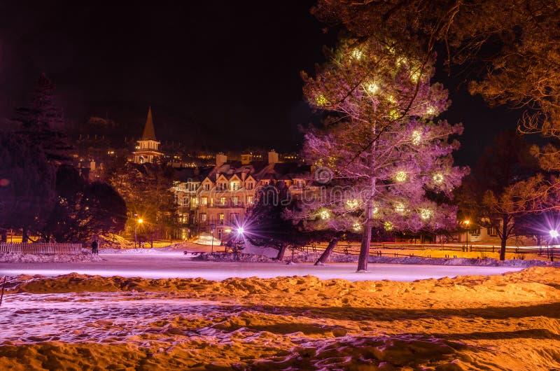 Het schaatsen Piste bij Nacht royalty-vrije stock afbeeldingen