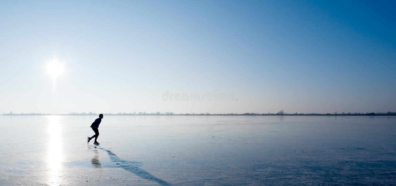 Het schaatsen van het ijs stock fotografie