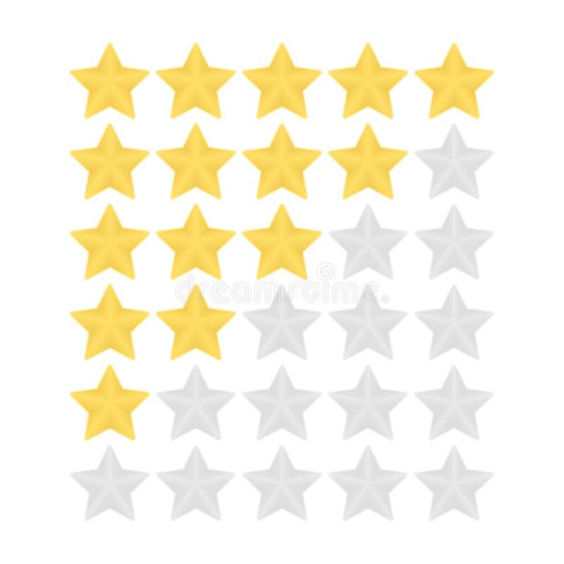 Het schatten gouden en zilveren vijf sterren vectorpictogrammen vector illustratie