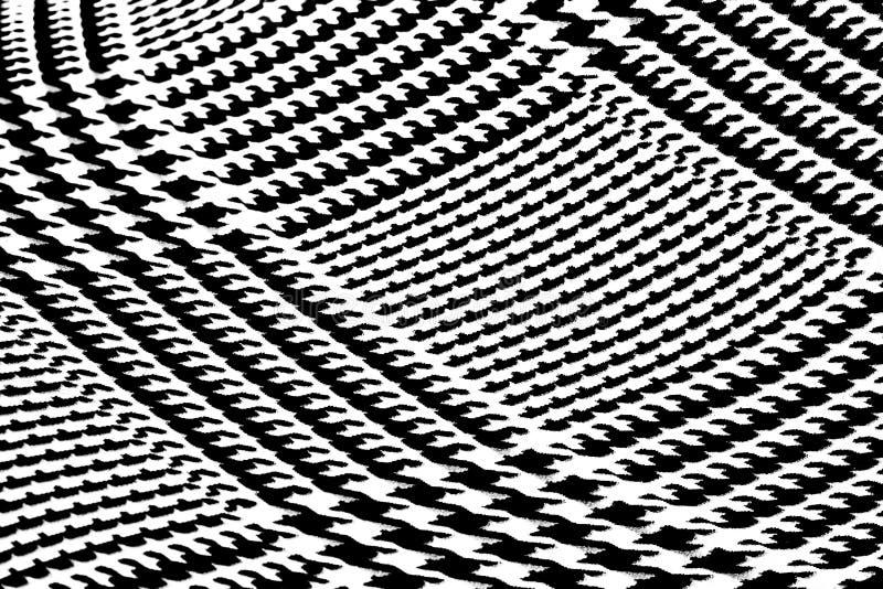 Het scheefgetrokken Zwart-witte Patroon van de Visgraat stock foto