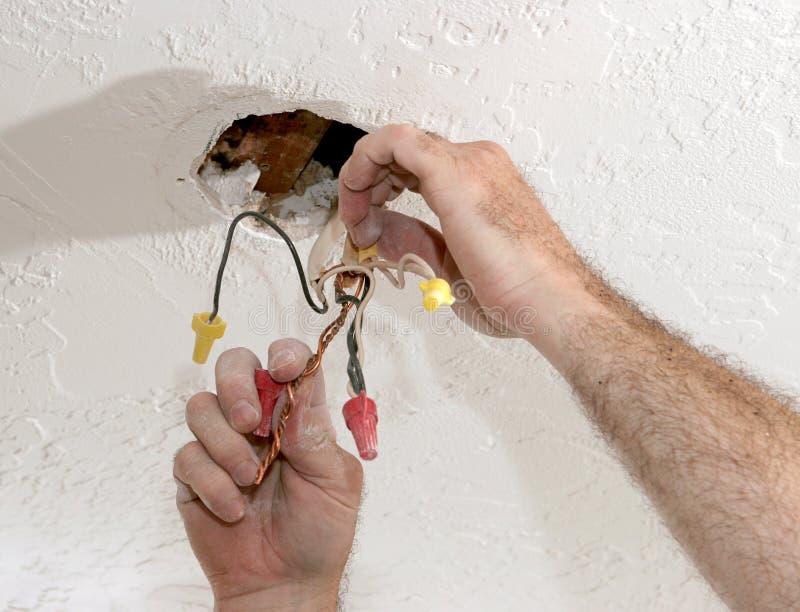 Het scheiden van ElektroDraden stock afbeelding