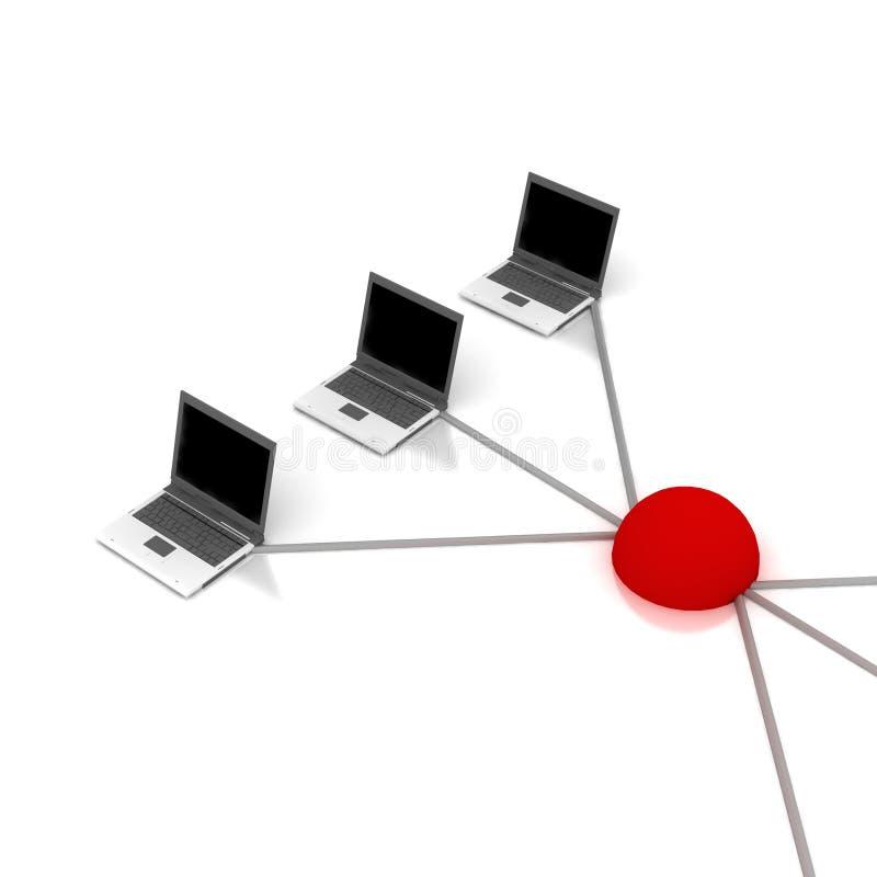 Het schema van het voorzien van een netwerk royalty-vrije illustratie