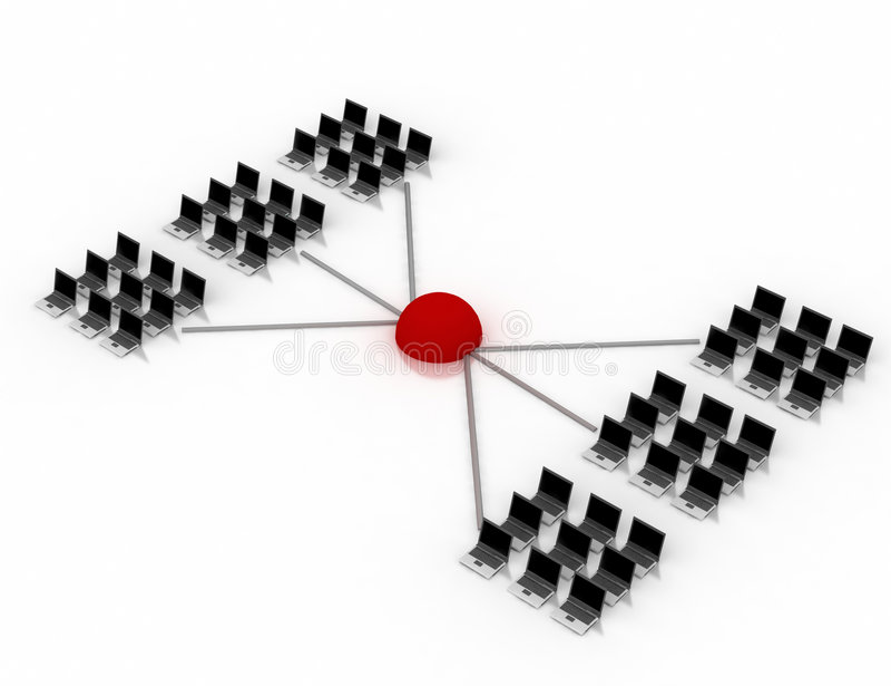 Het schema van het voorzien van een netwerk vector illustratie