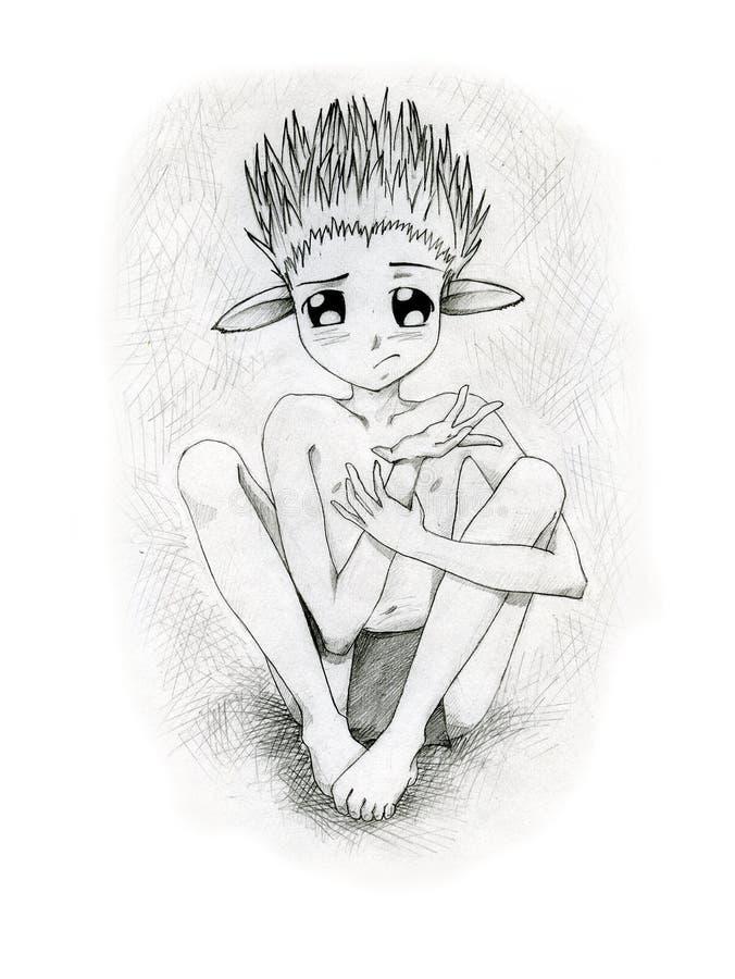 Het Schepsel Van Anime Met Afluisteraar Royalty-vrije Stock Foto