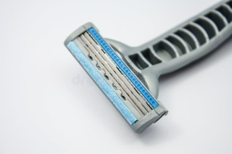Het scheren van scheermes op een wit royalty-vrije stock afbeelding