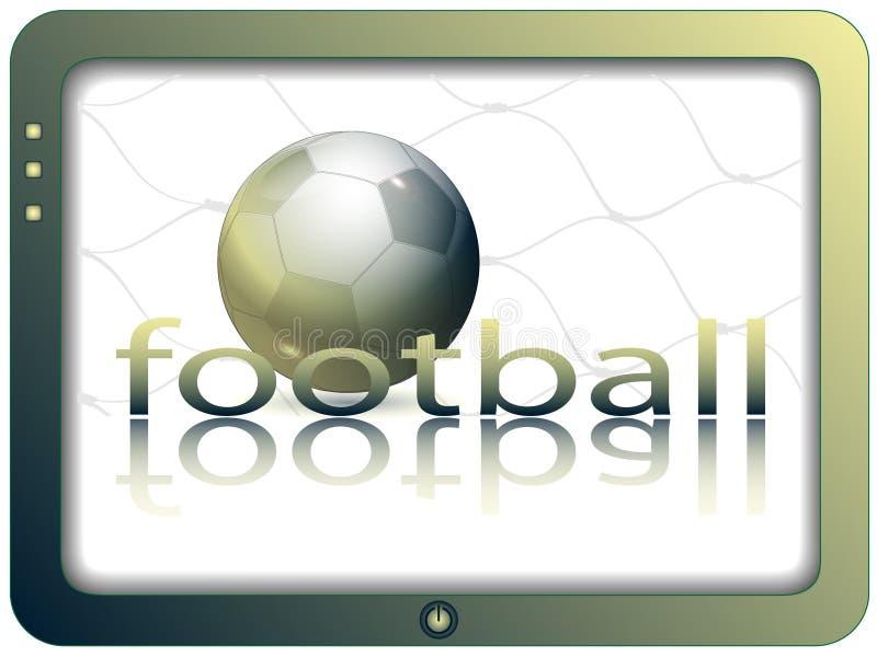 Het scherm en voetbal vector illustratie