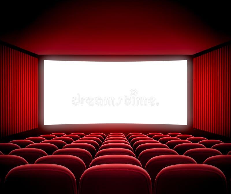 Het scherm van de bioskoopfilm royalty-vrije stock fotografie