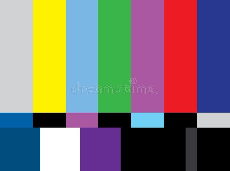 Het scherm van de de testkleur van TV royalty-vrije illustratie