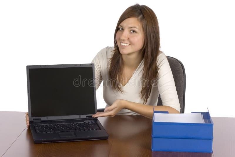 Het scherm van de de vertoningencomputer van de voorzitter stock fotografie