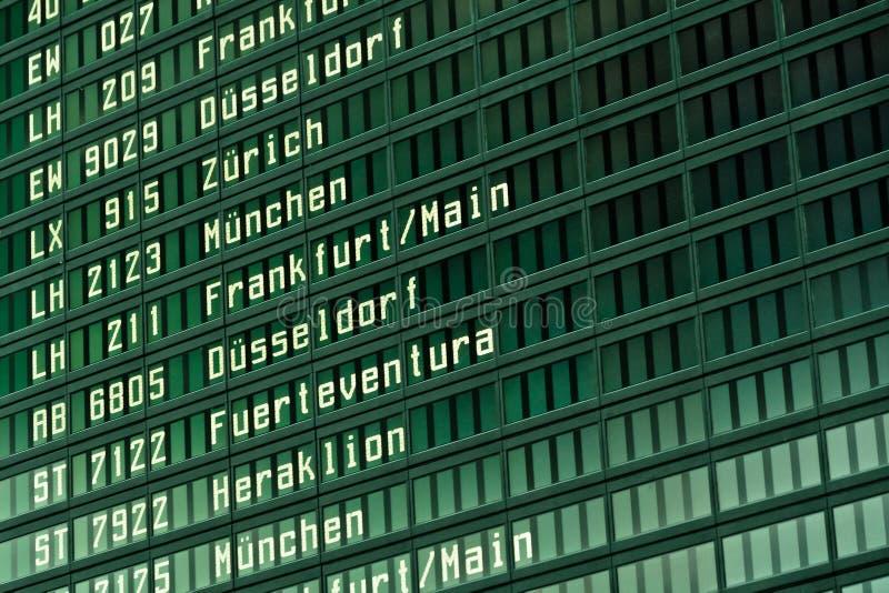 Het scherm van de luchthavenvlucht royalty-vrije stock fotografie