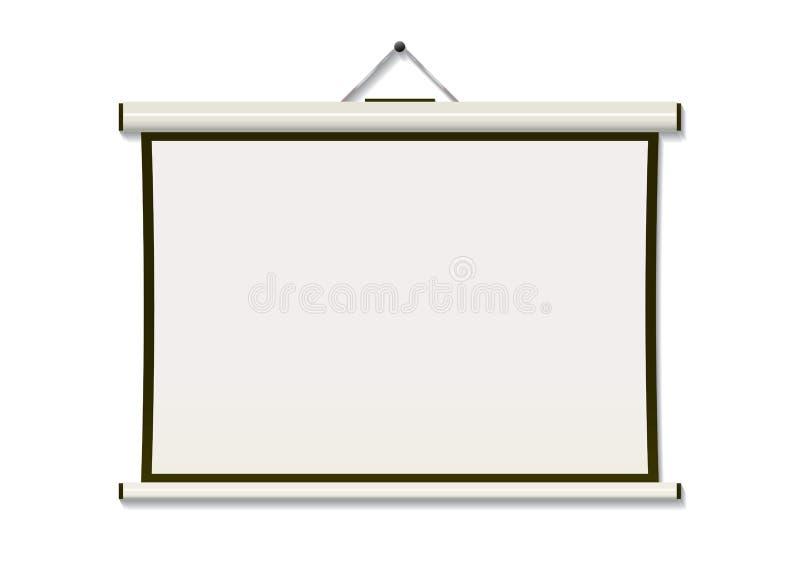 Het scherm van de projectie hangt stock illustratie