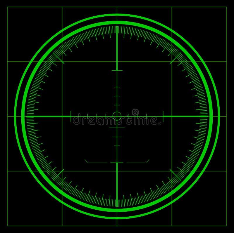 Het scherm van de radar