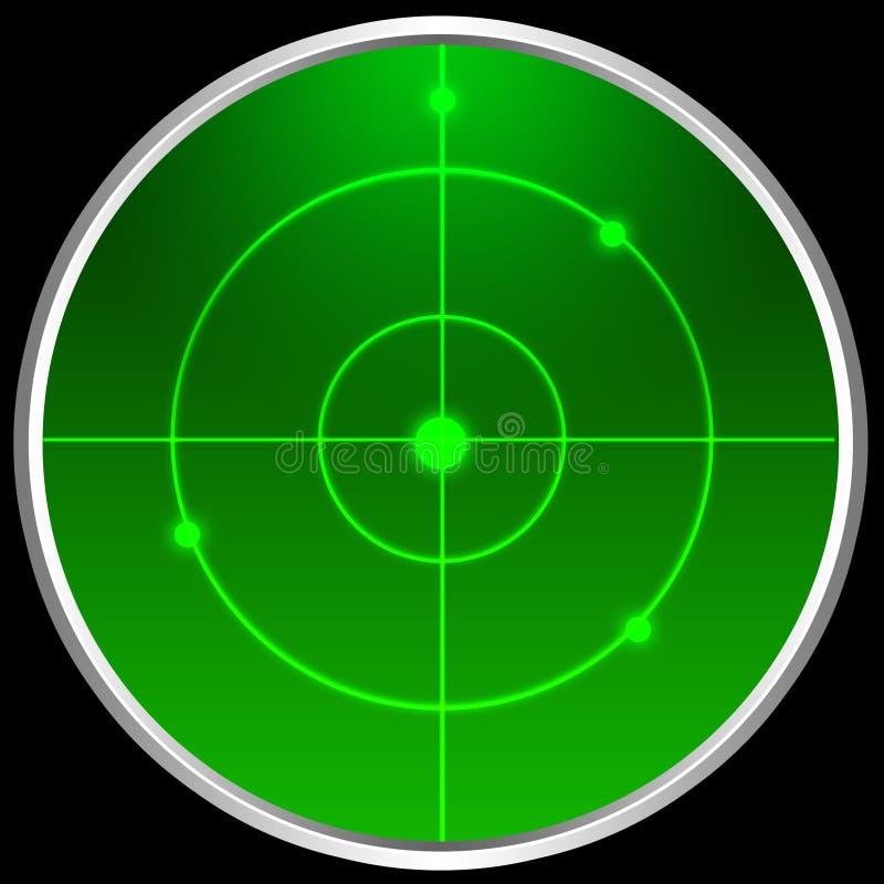 Het scherm van de radar vector illustratie