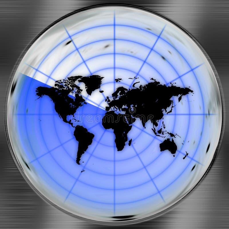 Het Scherm van de Radar van de wereld stock illustratie