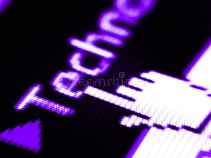 Het scherm van de technologie royalty-vrije stock fotografie