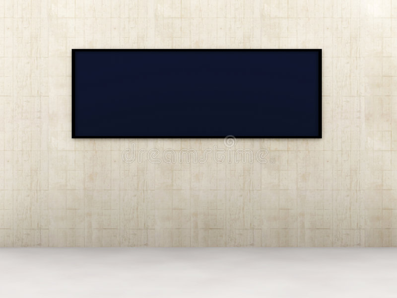 Het Scherm van de tentoonstelling stock illustratie