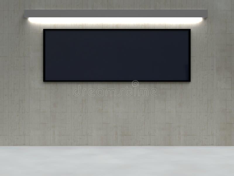 Het Scherm van de tentoonstelling vector illustratie