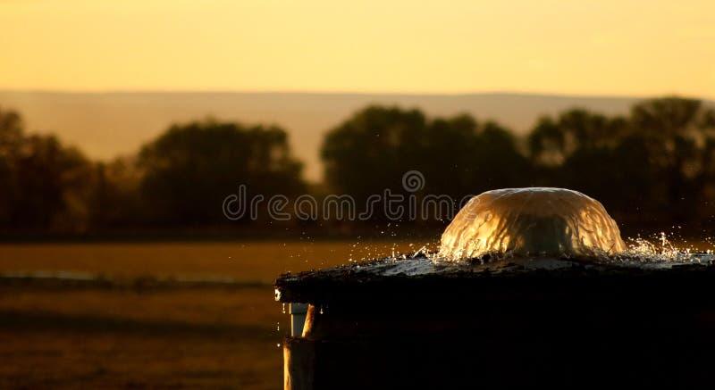 Het Scherm van het irrigatiewater royalty-vrije stock fotografie
