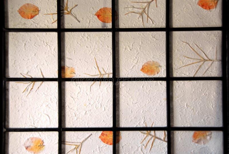 Het scherm van het rijstpapier stock afbeeldingen