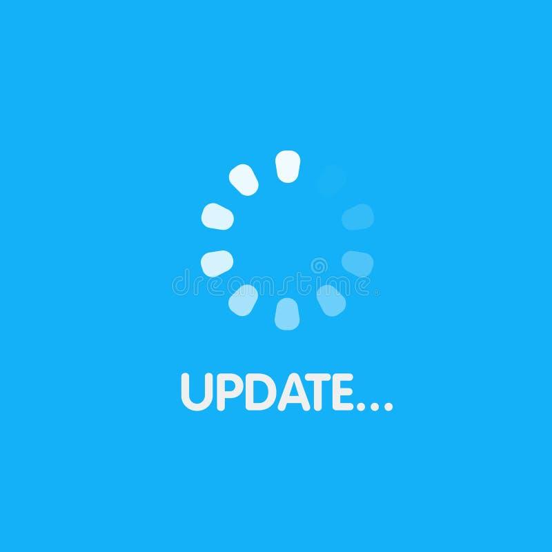 Het scherm van het ladingsproces De update van de systeemsoftware en verbeteringsconcept Vector illustratie vector illustratie