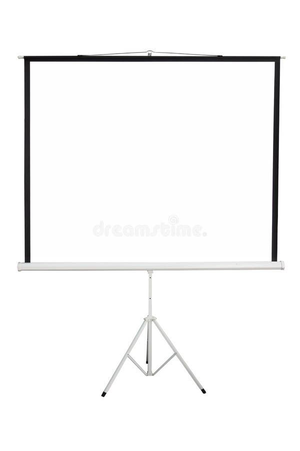 Het schermachtergrond om projector te tonen stock afbeelding