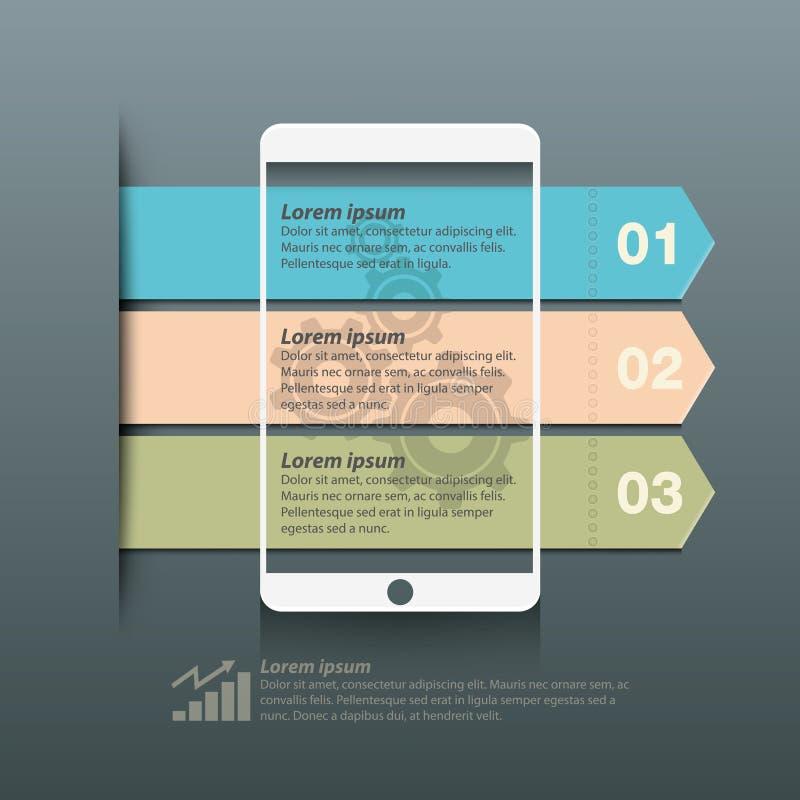 Het schermontwerp van de informatie grafisch slim telefoon royalty-vrije illustratie
