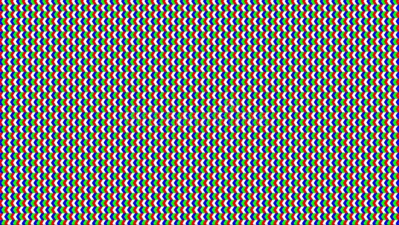 Het schermrgbw LEIDENE Vector De moderne Achtergrond van de Vertoningstechnologie Analoge Vertoningsillustratie stock illustratie