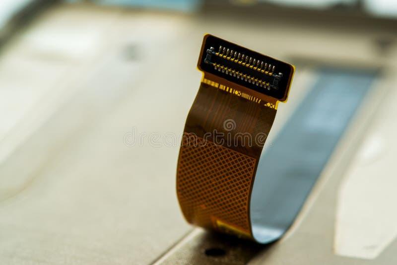 Het schermsmartphone met spelden voor verbinding, geschoten close-up royalty-vrije stock foto's