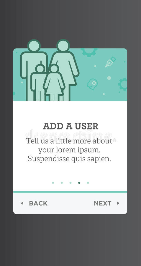 Het schermvensters voor de Mobiele UI en interface en de ervaring van UX des royalty-vrije illustratie